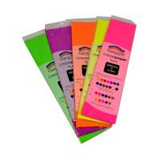 Rainbow Crepe Paper 500mm x 2.5M Assorted Fluoro Colours Pack 5