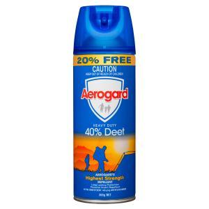 Aerogard Heavy Duty 40% Deet 300g Insect Repellent Aerosol Spray