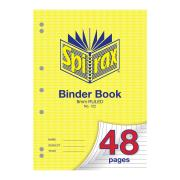 Spirax 122 Binder Book 48 Pages 8mm Ruled A4