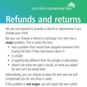 Our Refund Policy Sign
