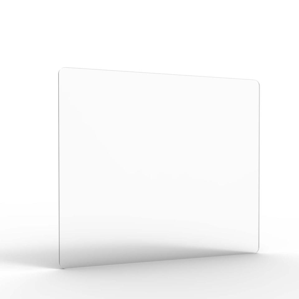 Acrylic Screen Radial Cut Corners 690W x 600H x 8T mm Crystal Clear Finish Extra Small