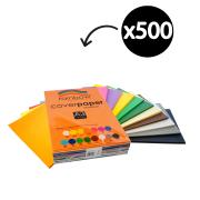 Rainbow Cover Paper 125gsm A3 279X420mm Assorted Pack 500