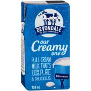 Devondale Long Life Full Cream Milk 150ml Carton of 32