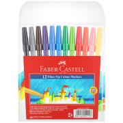 Faber-Castell Fibre-Tip Coloured Markers Assorted Pack 12