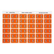 Avery C Side Tab Colour Coding Labels for Lateral Filing - 25 x 38mm - Orange - 180 Labels