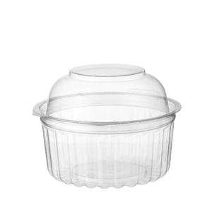 Castaway Eco-smart Clearview Takeaway Food Bowls With Hinged Dome Lid 341ml 12oz Clear Carton 250