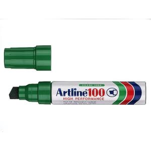 Artline 100 Permanent Marker Broad Tip 7.5-12mm Green