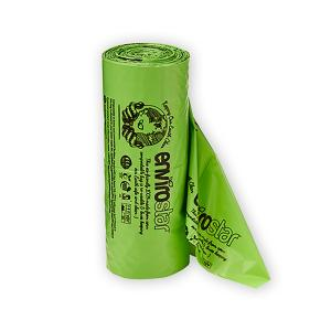 Envirostar Dog Waste Bag Green Compostable Printed Roll 15 X 2