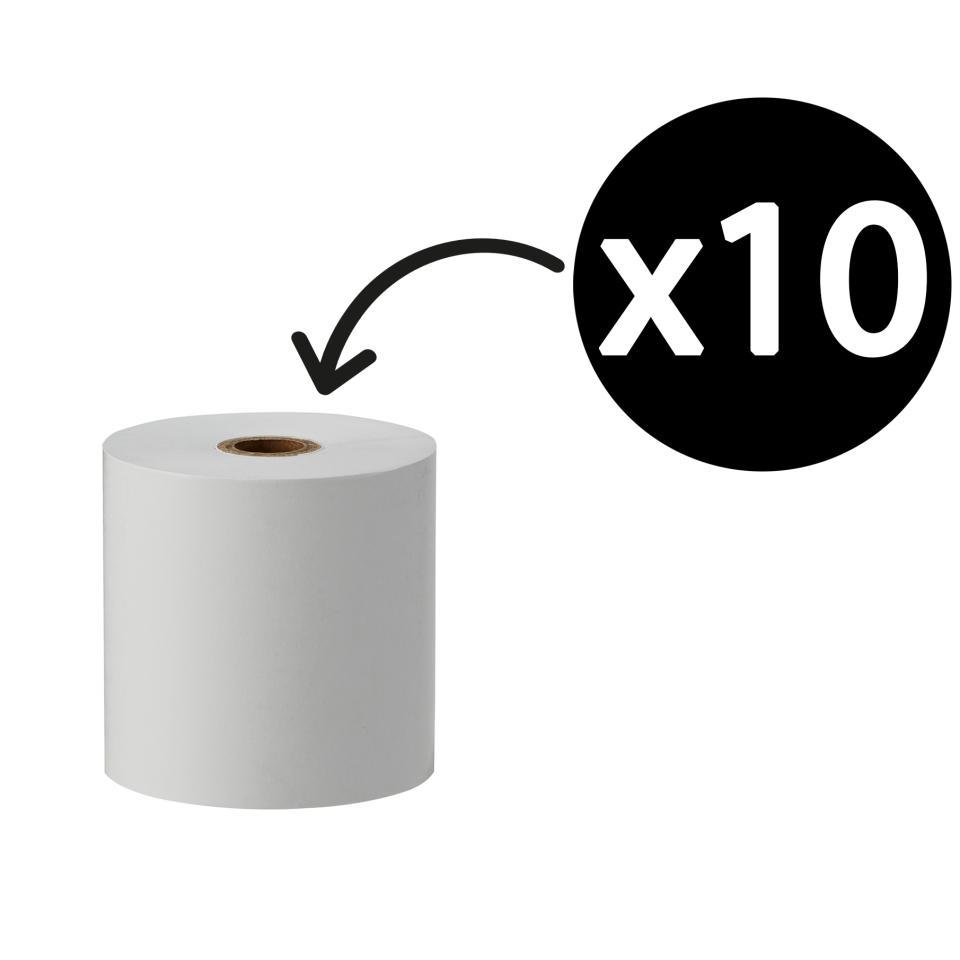Winc Plain Paper Rolls 1ply 57x57mm 12mm core White Pack 10