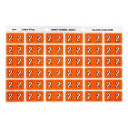 Avery 2 Side Tab Colour Coding Labels for Lateral Filing - 25 x 38mm - Orange - 180 Labels