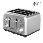 Nero Classic Style Toaster 4 Slice Stainless Steel