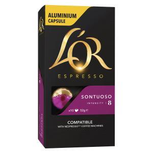 L'OR Espresso Coffee Capsules Sontuoso Box 10