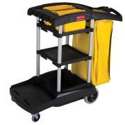 Rubbermaid Commercial Janitorial High Capacity Cleaning Cart Black