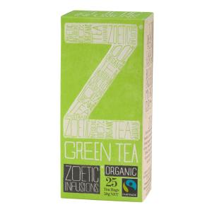 Zoetic Infusions Fairtrade Organic Green Tea Bags Pack 25