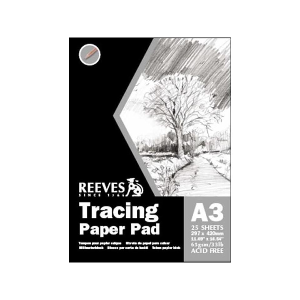 Reeves Tracing Paper A3 65gsm 50 Page/25 Sheet