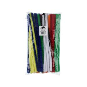 Jasart Chenille Pipe Cleaners Assorted Colours 1.2 X 30cm Bag 100