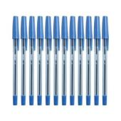 Simply Tinted Stick Ballpoint Pen Fine 0.7mm Blue Box 12