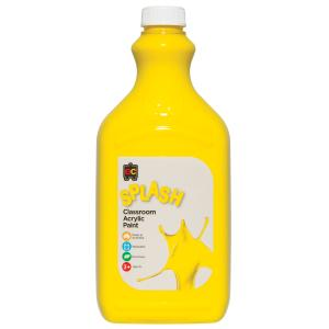 Educational Colours Classroom Splash Acrylic Paint 2 Litre Sunshine Yellow