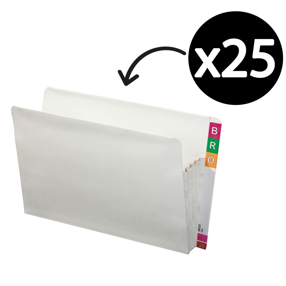 Avery Lateral Note Concertina Expansion Wallet White Pack 25