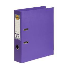 Marbig Lever Arch PE Linen A4 Purple