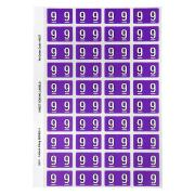 Avery Colour Coding Labels Numeric 9 Self Adhesive Purple Pack 240