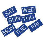 Days Magnetic 25X25mm Monday To Sunday Blue