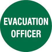 Brady Self Sticking  Hard Hat Emblems - Evacuation Officer Each