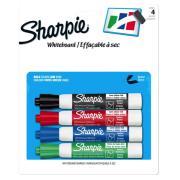 Sharpie Whiteboard Marker 2mm Bullet Assorted Colours Pack/4