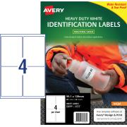 Avery White Heavy Duty Labels for Inkjet Printers - 99.1 x 139mm - 40 Labels (J4774)