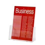 Esselte Brochure Holder Free Standing 1 Tier 1 Compartment Portrait A4 Clear