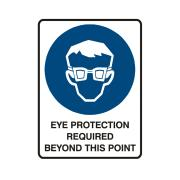 Brady 840944 Sign Eye Protection Required Beyond This Point Metal 225X300mm Each