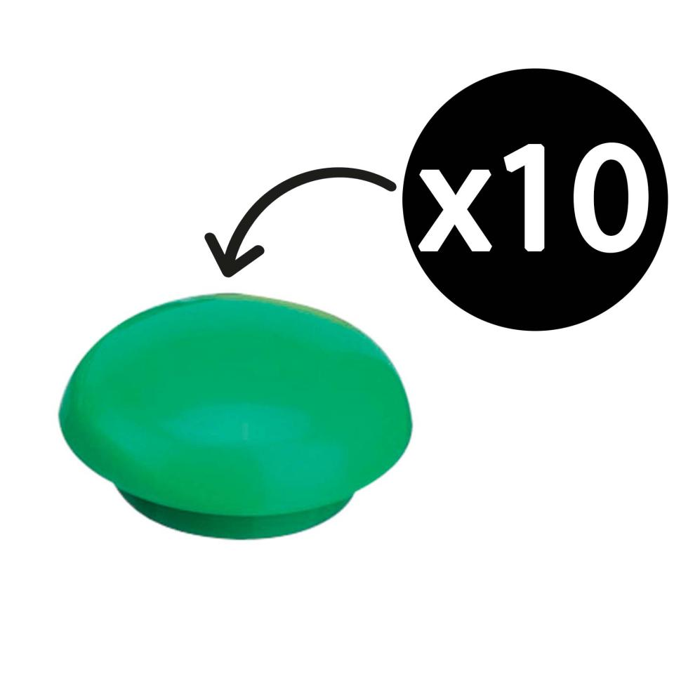 Quartet Magnetic Buttons 20mm Green Pack 10