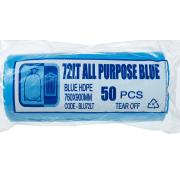 Austar Bin Liners All Purpose 72 Litre Blue Roll 50 Carton 500