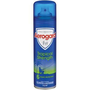 Aerogard Insect Repellent Regular Tropical Aerosol 150g Each