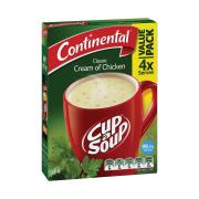 Continental Cup-A-Soup 75g Cream Of Chicken Pack 4