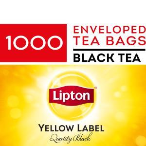 Lipton Yellow Label Quality Black Enveloped Tea Bags Carton 1000