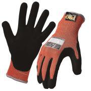 Arax Platinun Cut 5 Gloves Pu Nitrile Foam Palm Red Black Pair