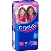 Huggies Drynites Pyjama Pants Girls 8-15 Years Pack 9 Carton Of 3