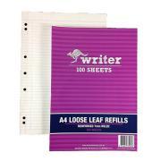 Refill Loose Leaf Reinforced A4 100 Leaf