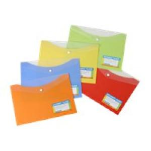 Beautone Document Folder With Button A4 Banana Image