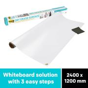 Post-it DEF8X4 Super Sticky Dry Erase Surface 1200x2400mm