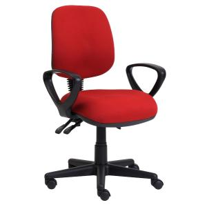 Officemax 200 Task Chair 3 Lever Medium Back With Arms Renegade Loyalist/red