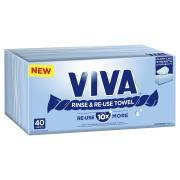 VIVA Rinse & Re-use Towel Box 40 Sheets X 12