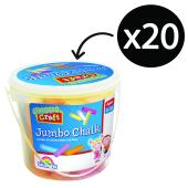 Colorific Classic Craft Jumbo Chalk Assorted Bucket 20