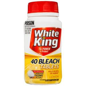 White King Bleach Tablets Lemon Pack Of 40