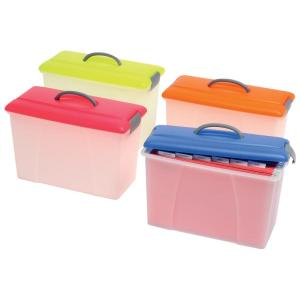 Crystalfile Carry Case Blue Lid/Clear Base
