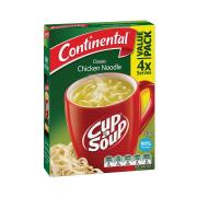 Continental Cup-A-Soup Chicken Noodle 40g Pack 4