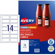 Avery Glossy Rectangle Labels - 80 x 35mm - 140 Labels (L7123)