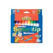 Texta Smart Tip Jumbo Coloured Markers Assorted Pack 10