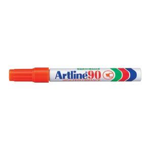 Artline 90 Permanent Marker Chisel Tip 2-5mm Orange